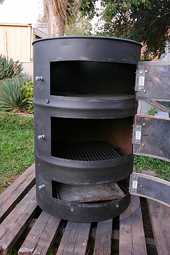 Used Wood Fired Pizza Oven Stove from 44 Gallon Drum #5 « Daub & Stuff