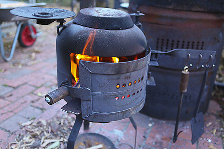 Forging in the gas bottle stove