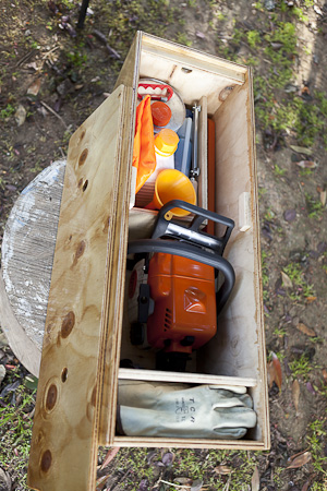 Chainsaw box